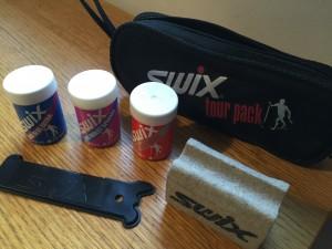 Eksempel på en enkel smørepakke som holder for de fleste fra Swix.
